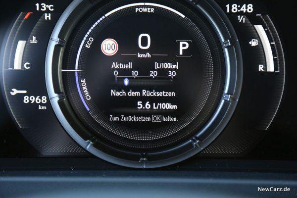 Verbrauch Lexus Hybrid