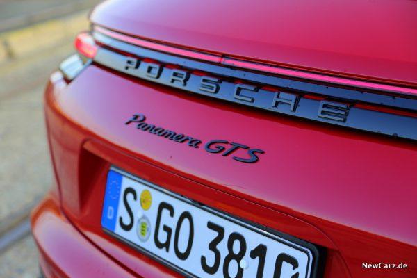 Panamera GTS-Schriftzug