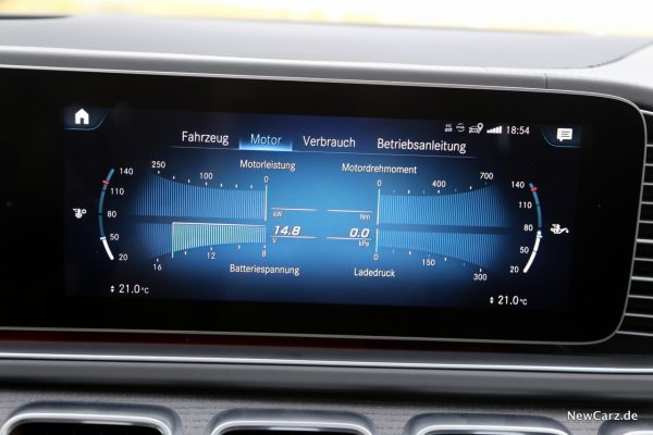 Motorparameter im Display