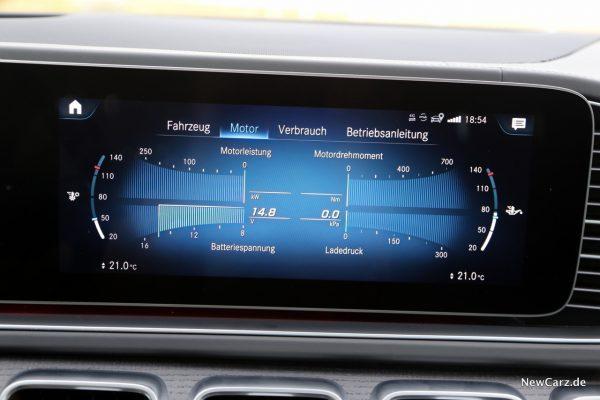 Motorparameter im Display