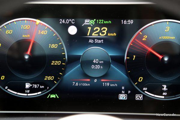 Durchschnittsverbrauch bei 120 km/h