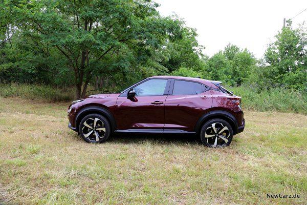 Nissan Juke auf Wiese