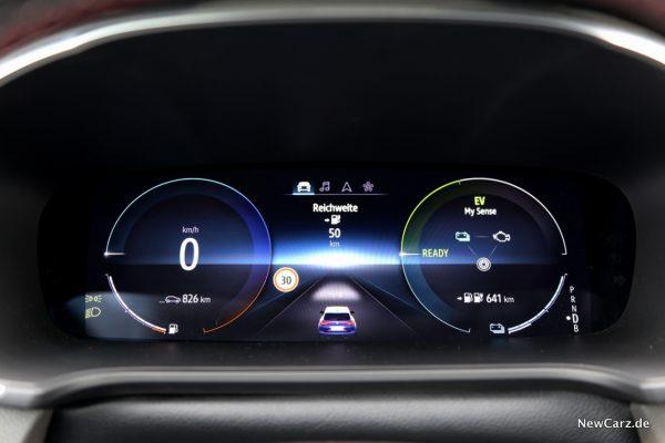 Renault Megane Grandtour E-Tech Plug-in 160 digitaler Tacho