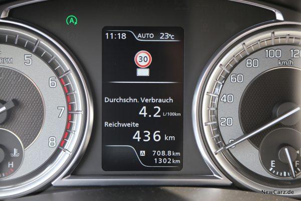 Verbrauchsrunde Suzuki Vitara Hybrid