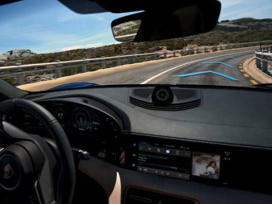 Porsche Taycan Spurführung