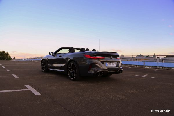BMW M8 Competition Cabriolet on track