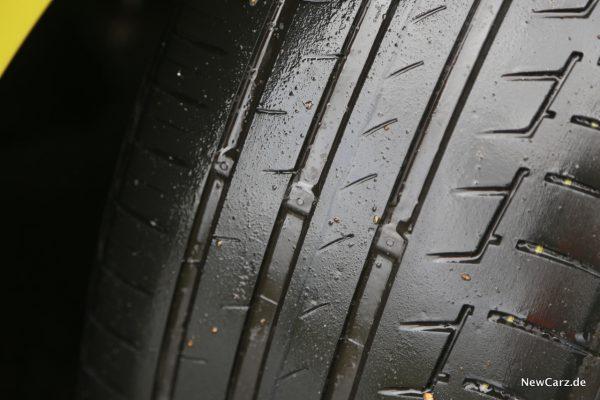 Reifen 1,6 Millimeter Markierung