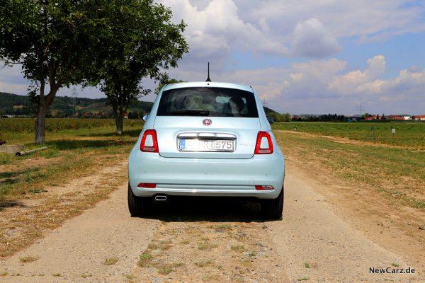 Fiat 500 Hybrid Hinten