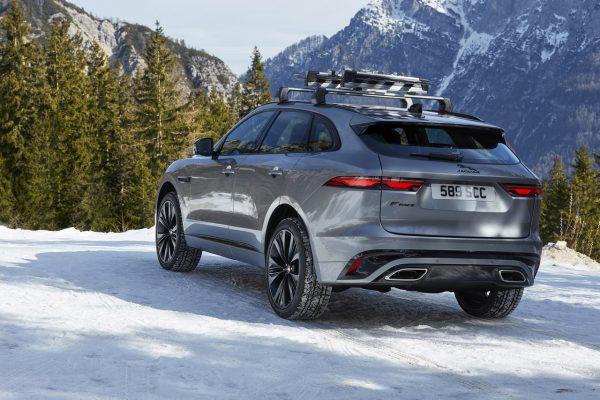 Jaguar F-Pace Facelift im Schnee