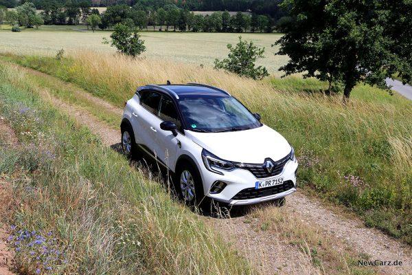Renault Captur II schräg oben rechts vorn