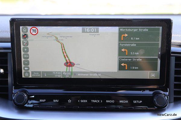 Navi - Routenführung aktiv