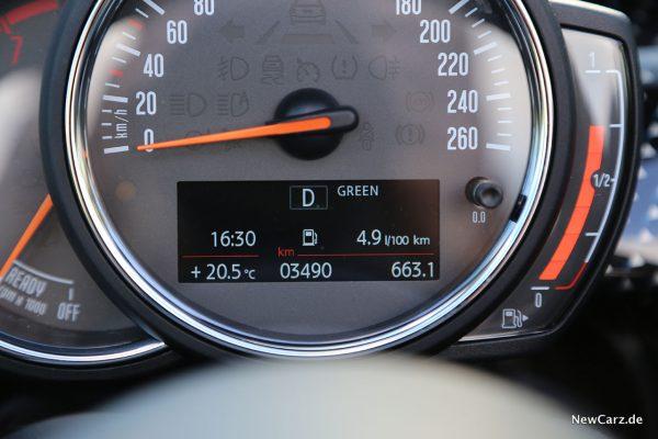 Sparrunde Verbrauch Mini Cooper S Cabrio