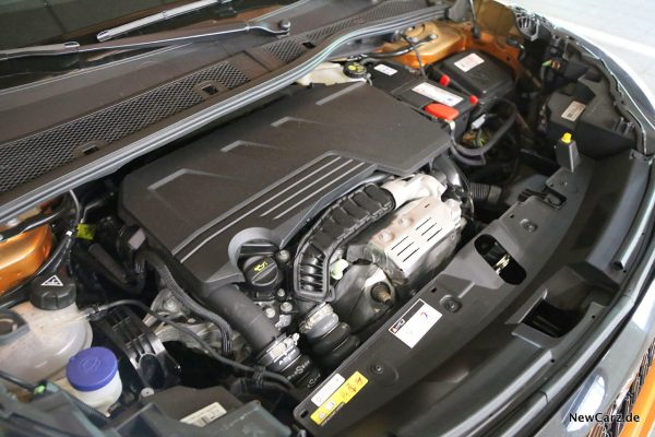 Motorraum Dreizylinder