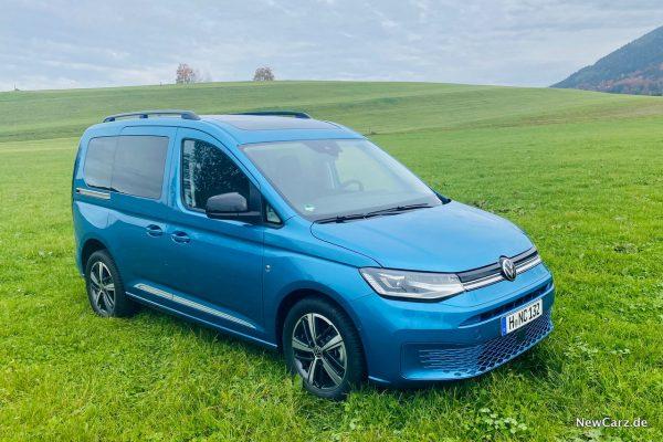 VW Caddy 2020 auf Wiese