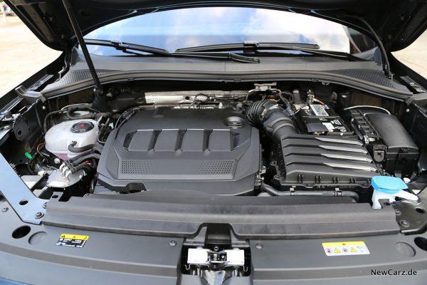 TDI Motorraum VW Tiguan Facelift