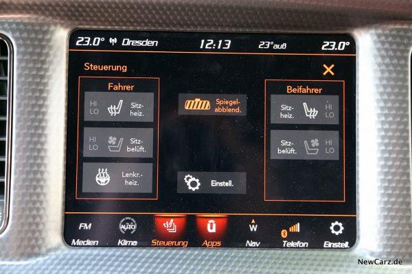 Zentralbildschirm Dodge