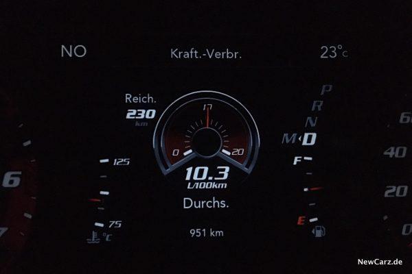Sparrunde Verbrauch Dodge Charger SRT Hellcat