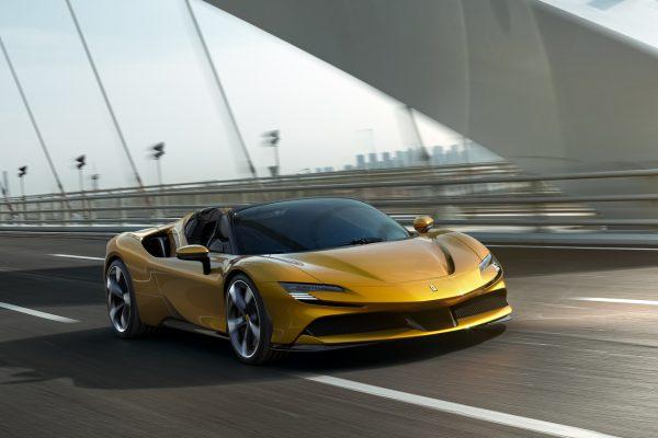 Ferrari SF90 Spider on road