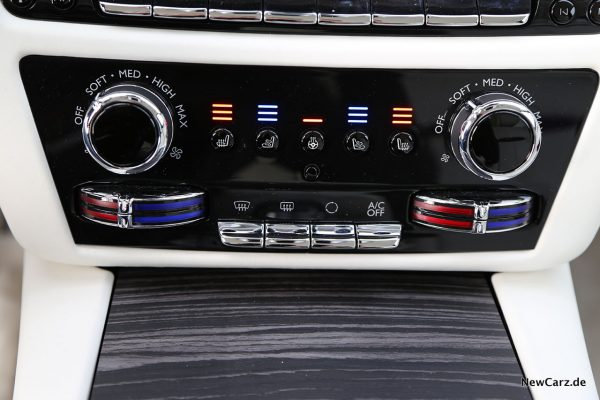 Klimabedienung im Rolls-Royce