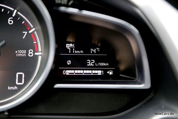 Sparrunde Verbrauch Mazda2