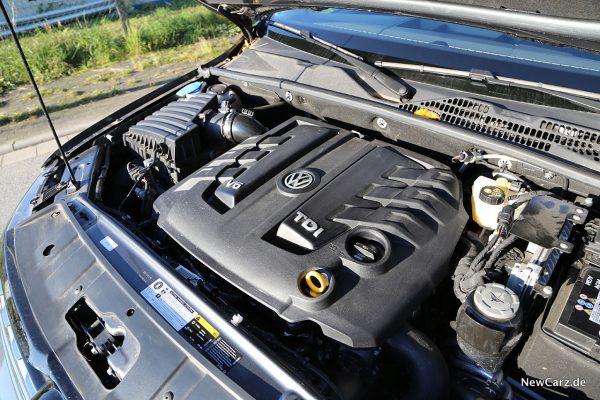 Motorraum VW Amarok V6 TDI
