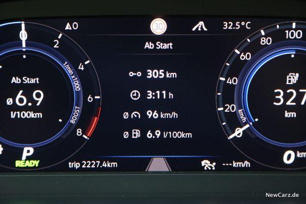 Verbrauch Autobahn GTE