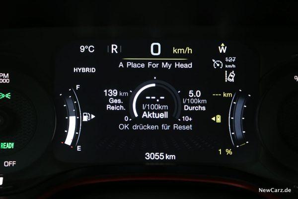 Sparrunde Verbrauch Jeep Compass 4xe