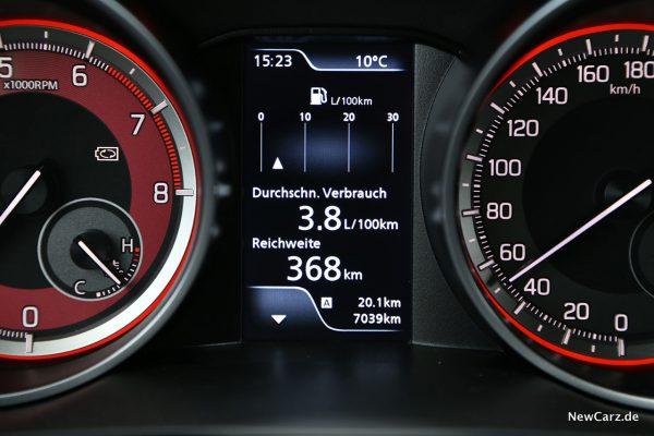Sparrunde Verbrauch Suzuki Swift Sport Hybrid