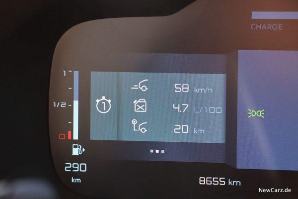 Sparrunde Verbrauch C5 Aircross Hybrid