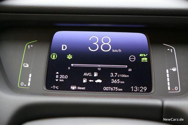 Sparrunde Honda Jazz Hybrid Verbrauch