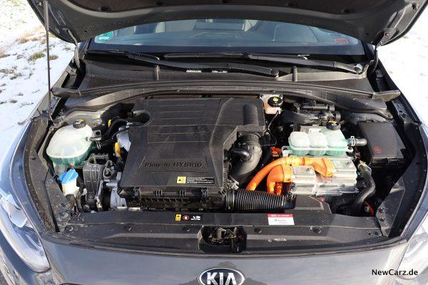 Motorraum Ceed Hybrid