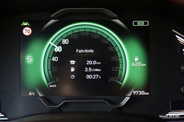Sparrunde Verbrauch Hyundai i30 1.6 CRDi Mildhybrid