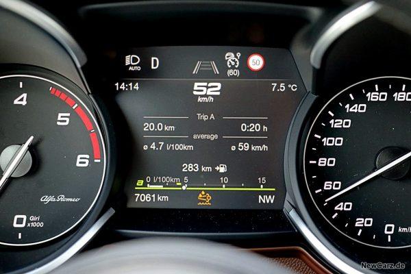 Sparrunde Verbrauch Alfa Romeo Stelvio 2.2 Diesel