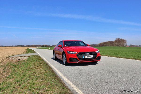 Audi A7 Sportback on road