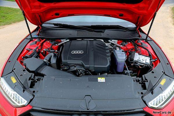 Motorraum A7 Vierzylinder