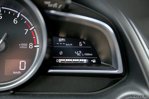 Sparrunde Verbrauch Mazda CX-3 Skyactiv-G 121