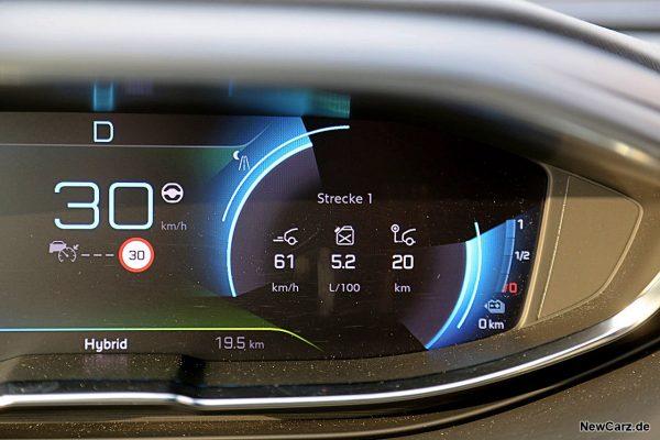 Sparrunde Verbrauch Peugeot 3008 Hybrid4