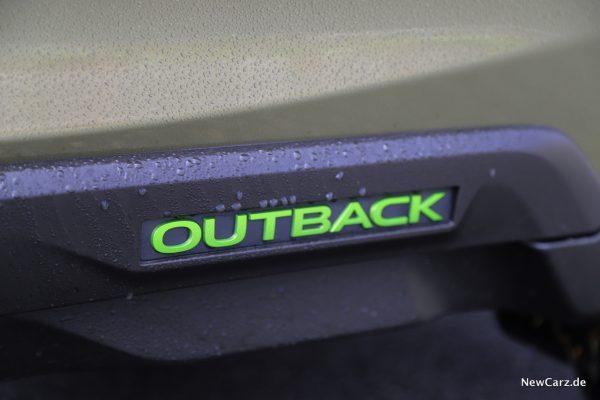 Outback 2021 Schriftzug