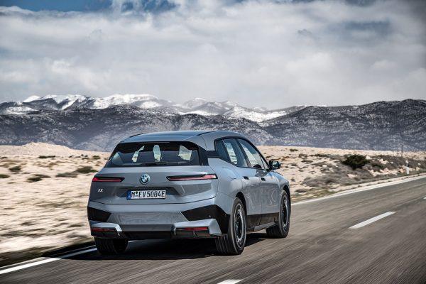 BMW iX on road