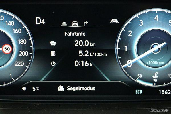 Sparrunde Verbrauch Hyundai i20 Hybrid