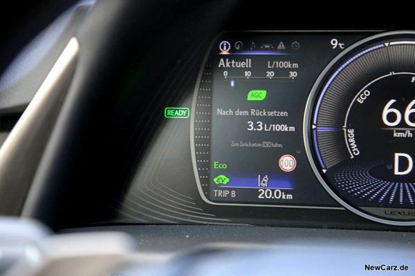 Sparrunde Verbrauch Lexus ES 300h