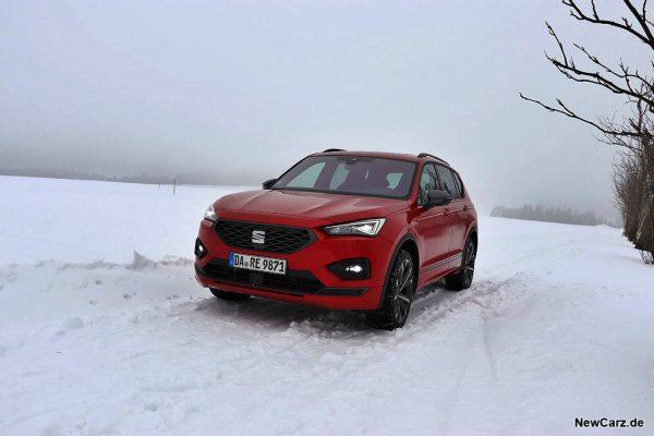 Seat Tarraco FR4 auf Schnee