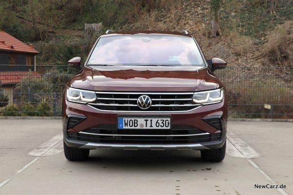 VW Tiguan Facelift Front