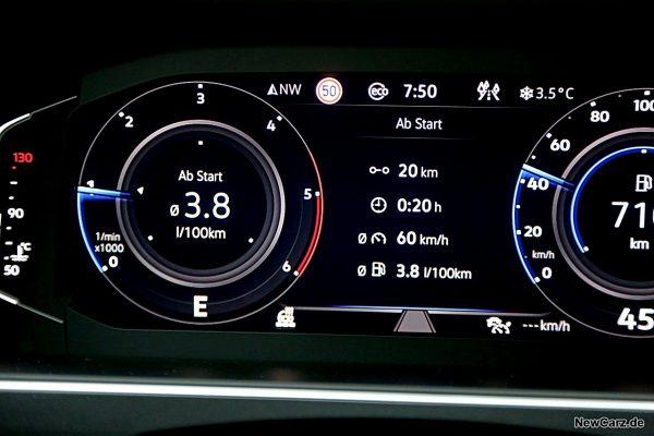 Verbrauch Sparrunde VW Tiguan Facelift