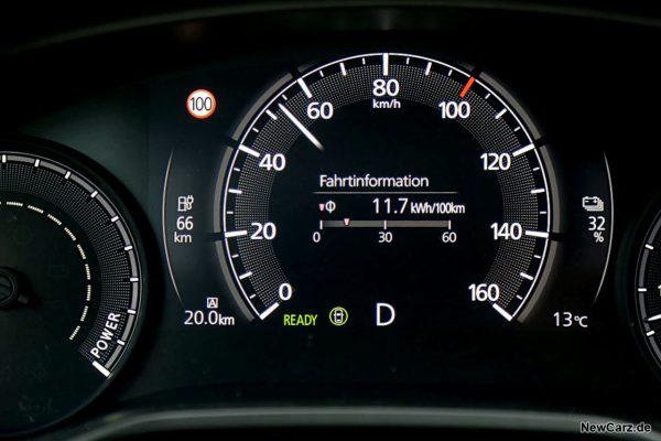 Sparrunde Verbrauch Mazda MX-30