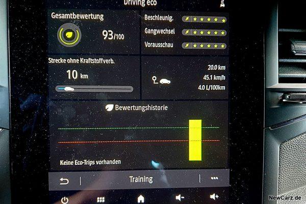 Sparrunde Verbrauch Renault Megane RS Line TCe 140