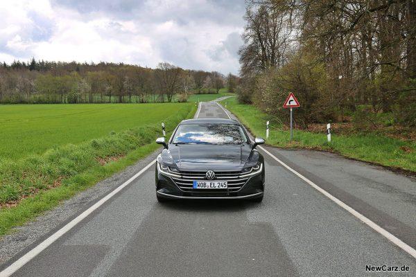 VW Arteon Shooting Brake on road