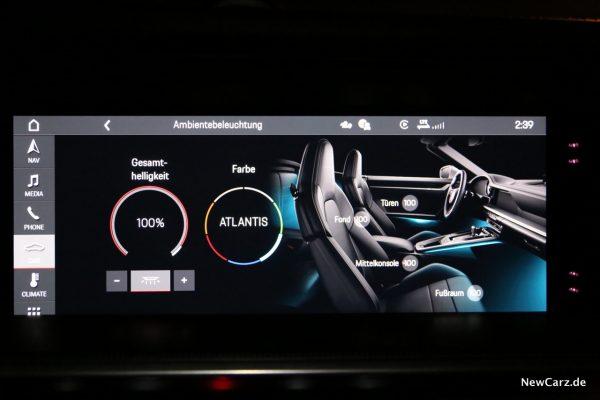 Porsche 911 Ambientebeleuchtung