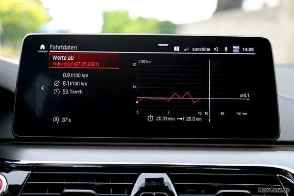 Sparrunde Verbrauch BMW M5 CS