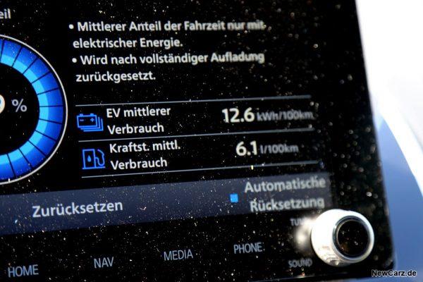 Sparrunde Verbrauch Mitsubishi Eclipse Cross PHEV